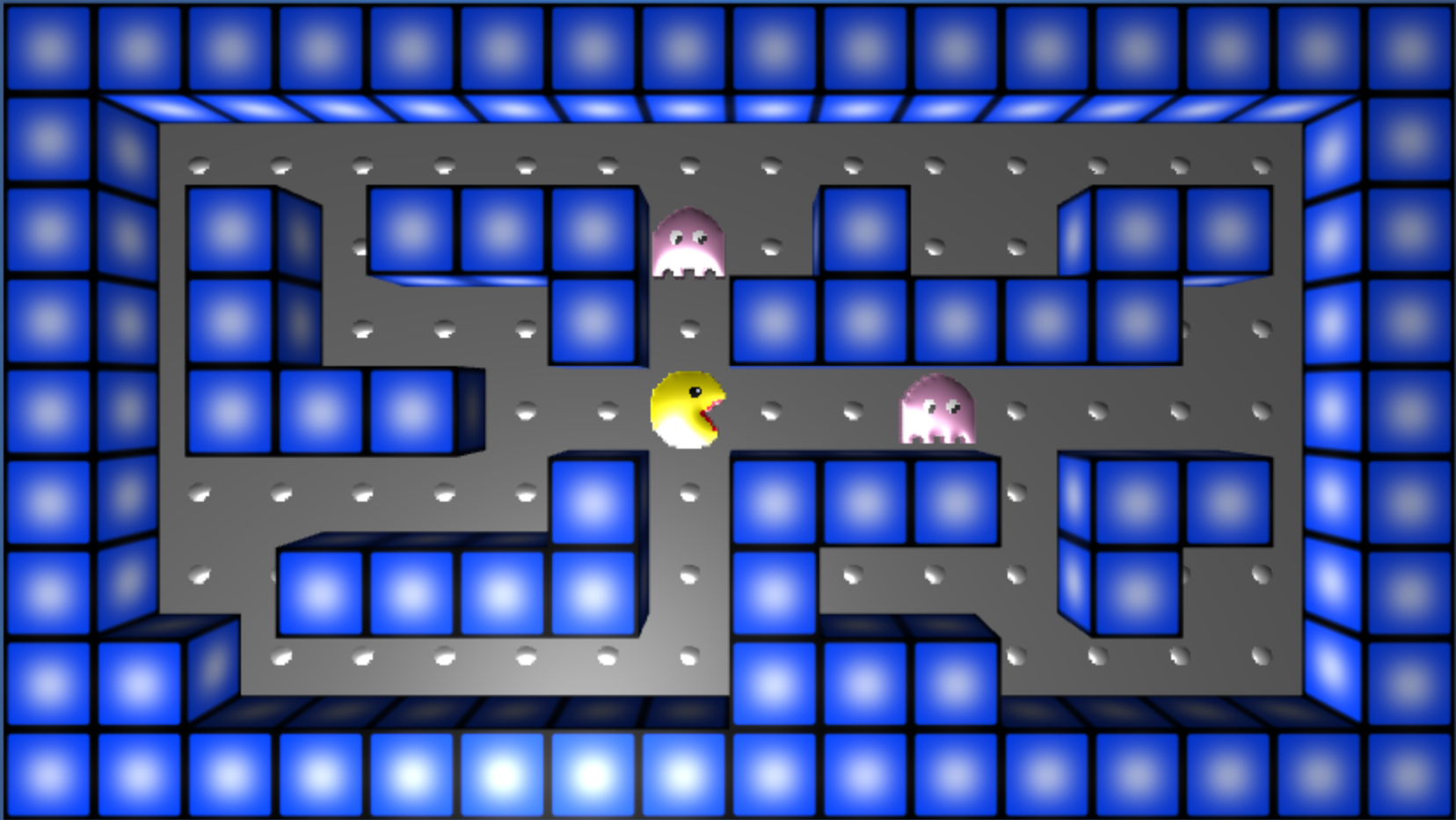 A Pacman game created with AgentCubes.