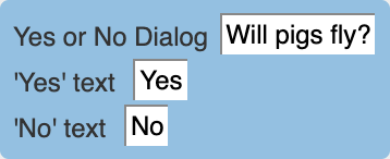 Yes-or-no-dialog condition